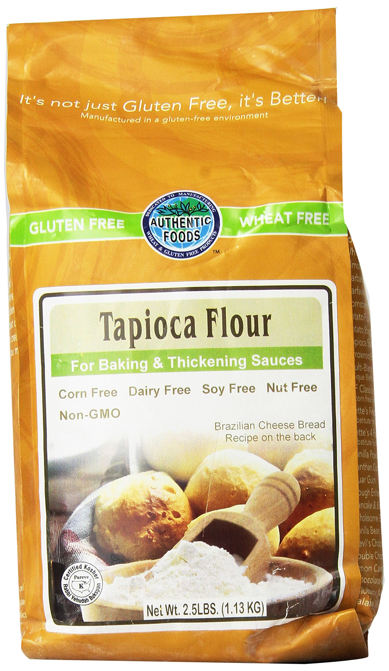 Authentic Foods Tapioca Flour 2.5lb 2 Pack