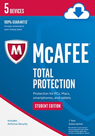 McAfee Total Protection 5 Device Student Edition [Online Code]