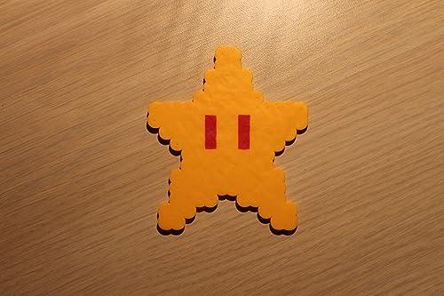 Amazon Com Super Star Pixel Art Bead Sprite From Super Mario Bros