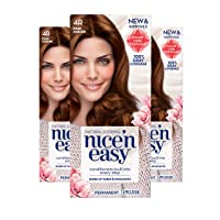 Clairol Nice 'n Easy Permanent Hair Color, 4R Dark Auburn, 3 Count Allergy Gentle...