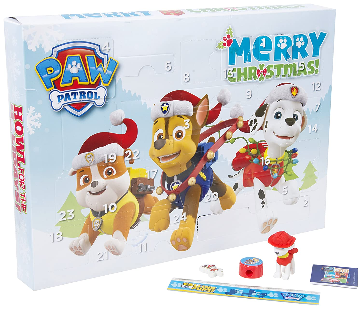 Paw Patrol Kids Boys Advent Calendar Puzzle Eraser Stickers Stamps Christmas Sambro