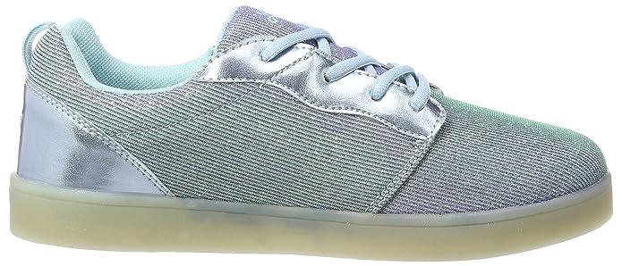 GEKA Mädchen Disco Low Girl Sneaker, Blau (Blau), 39 EU