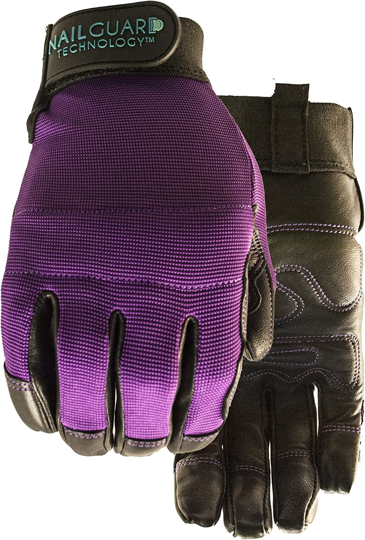 Perfect 10 Purple Garden Glove for Women Size M
