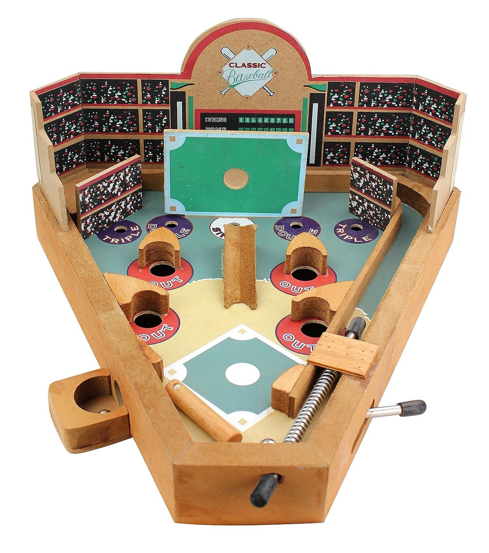 Homeware Classic Wood Pinball Style Baseball Game