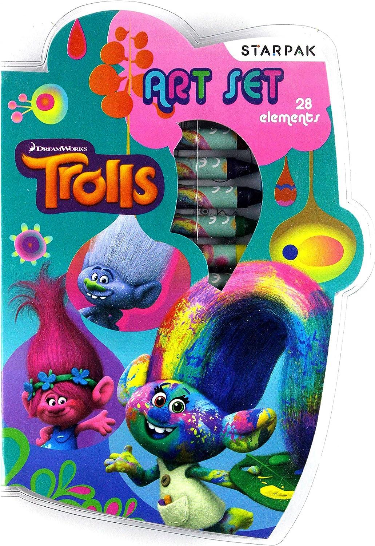 trolls - Trolls 18205. Estuche de arte.: Amazon.es: Juguetes y juegos