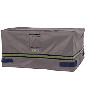 """Duck Covers Soteria Rainproof 56"""" Rectangular Fire Pit Cover"""