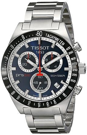 Tissot T0444172104100 - Reloj cronógrafo de caballero de cuarzo con correa de acero inoxidable plateada: Tissot: Amazon.es: Relojes