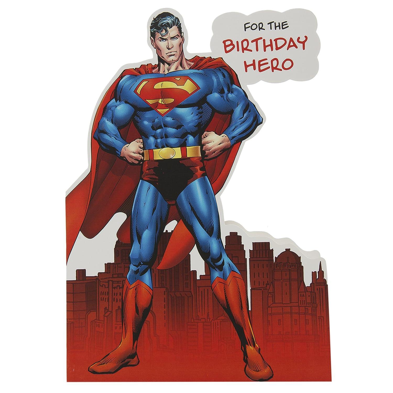 Dc Comics Hallmark Birthday Card Pop Up Superman Medium Amazon