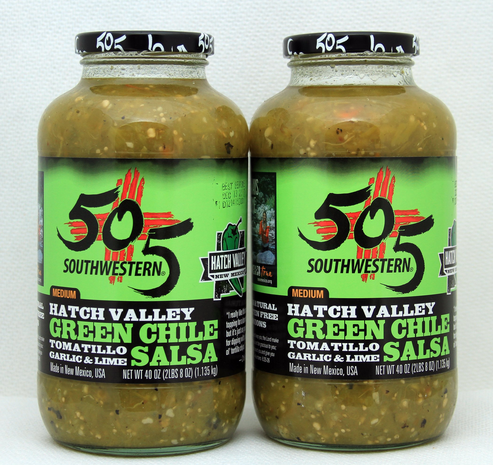 505 Southwestern Hatch Valley Green Chile Salsa Party Pack (2- 40 OZ ) by 505 Southwestern (Image #1)