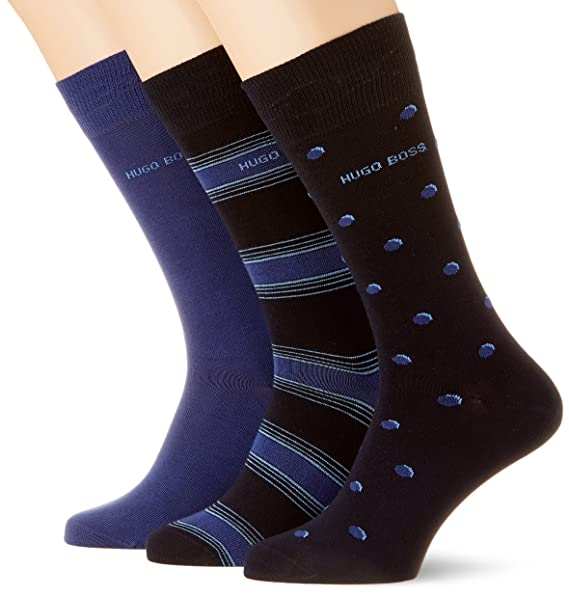 3p Rs Gift Set Cc, Calcetines para Hombre, Azul (Dark Blue 404), 40/46(Pack de 3) BOSS