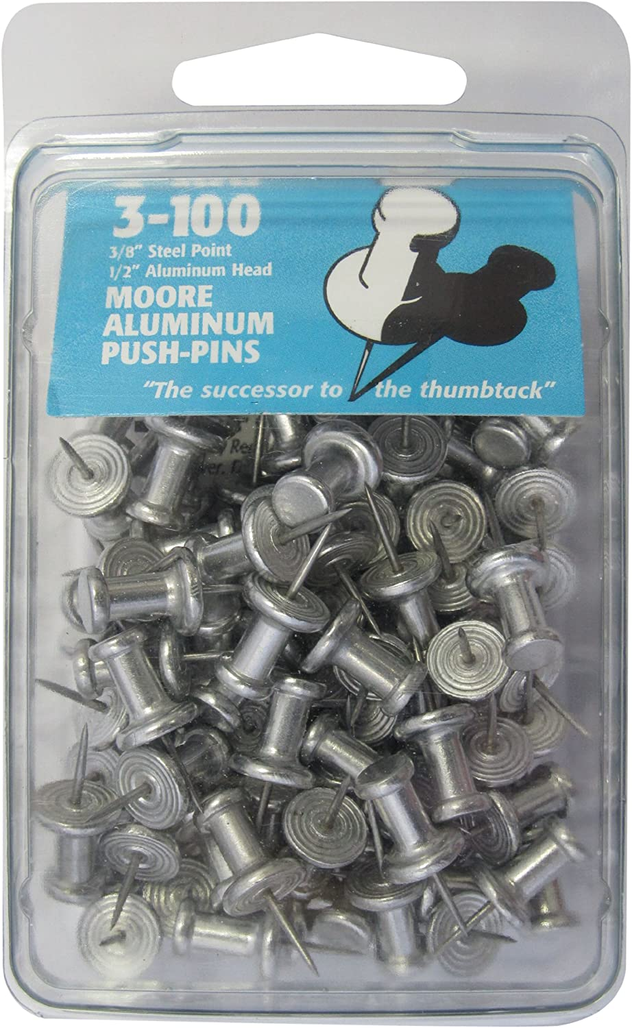 Moore Push-Pin Aluminum Push-Pins 4-100 4-100