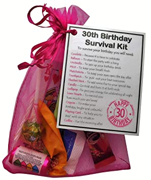 30th Birthday Survival Kit Gift