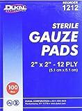 DKL1212 - Sterile Gauze Pads, 2x2, 12 Ply, 100/BX, White by Dukal Corporation