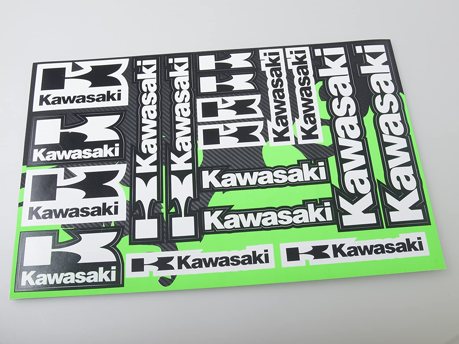 Kawasaki Stickers Decals 30x20cm vinyl with extra protection on top CC019
