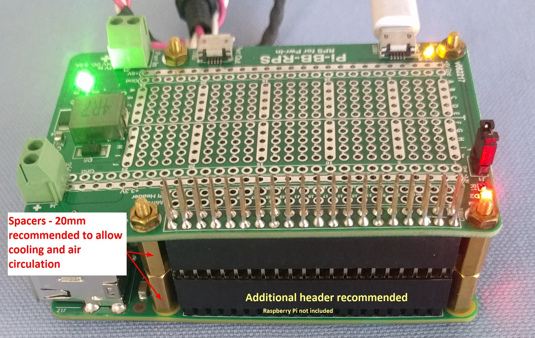 Alchemy Power Inc. Pi-BB-RPS Powered Breadboard with Redundant Power Supply (RPS) and more... by Alchemy Power Inc. TM (Image #6)