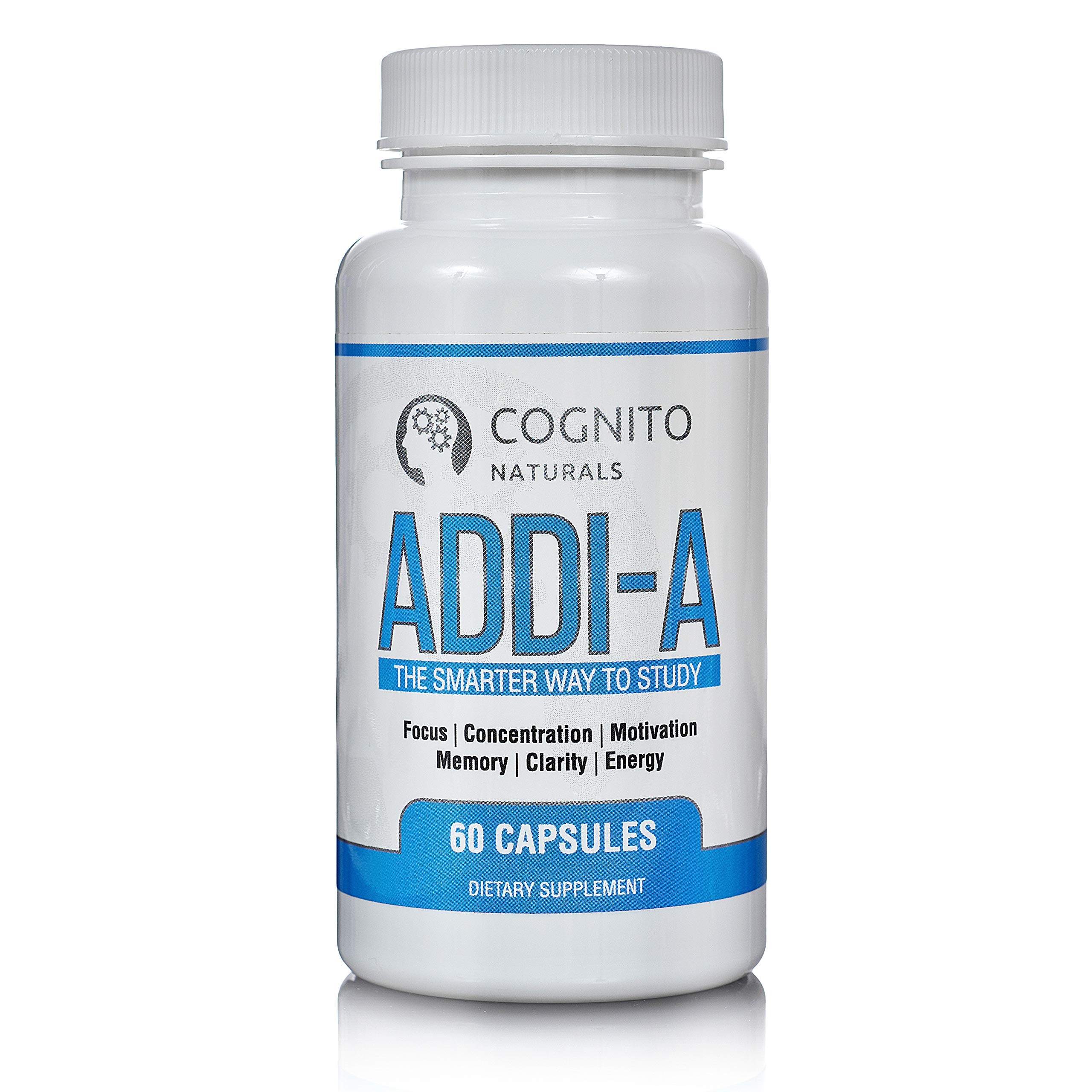 ADDI-A: The Smarter Way to Study | Super Focus & Memory Supplement | Natural Brain Booster Nootropic | Natural Caffeine Energy | Premium Mental Performance | by Cognito Naturals