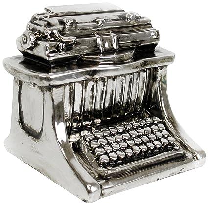 SIL Hucha, diseño de máquina de escribir antigua, color plateado
