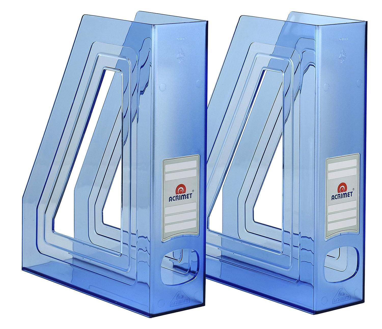 Acrimet Magazine File Holder Bleu clair lot de 2
