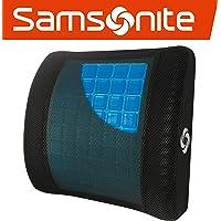 """Samsonite SA5244 \ Almohada ergonómica de Apoyo Lumbar \ Ayuda a aliviar el Dolor de Espalda Baja, Soporte Lumbar con Gel refrigerante, Gel Lumbar Support, 13.5"""" X 14"""" X 4.5"""" HxWxD"""