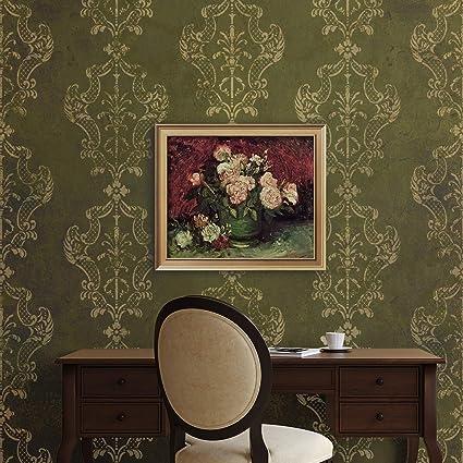 Amazoncom Royal Design Studio Stencils Villa Damask Wall