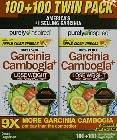 Purely Inspired Garcinia Cambogia Extract Weight Loss Supplement With Green Coffee 1600mg