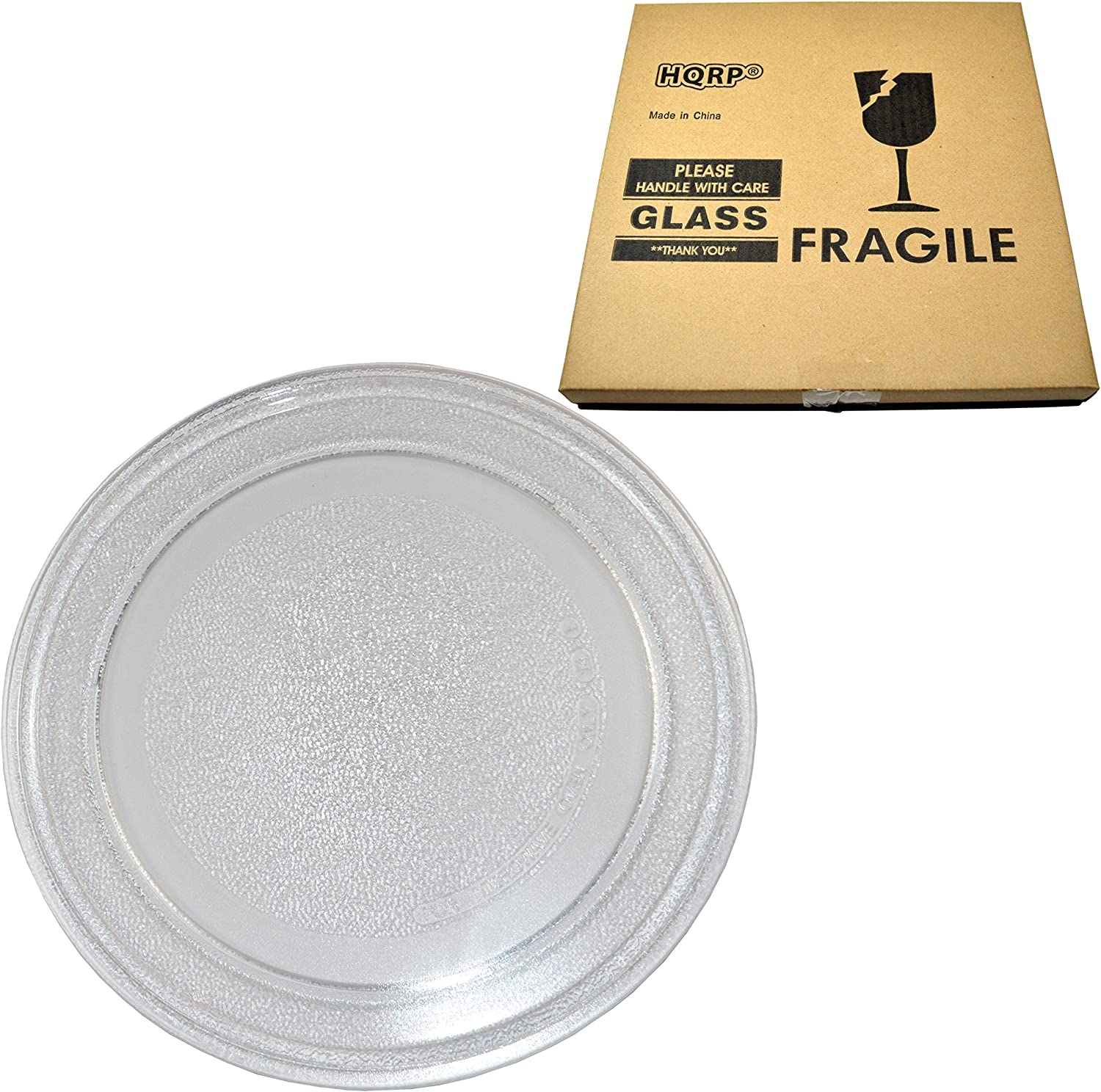HQRP 9-5/8 inch Glass Turntable Tray compatible with Oster OGG3701 3390W1A035 OM0701 OMO701 OM0701A8B OM0701N8E OMO701N8E OGT6701 OGYU701 0GYU701M OGYW0701 Microwave Oven Cooking Plate 245mm