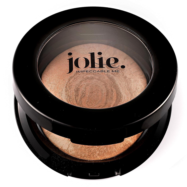 Jolie Marbleized Baked Finishing Powder Bronzer, Highlighter Satin Glow