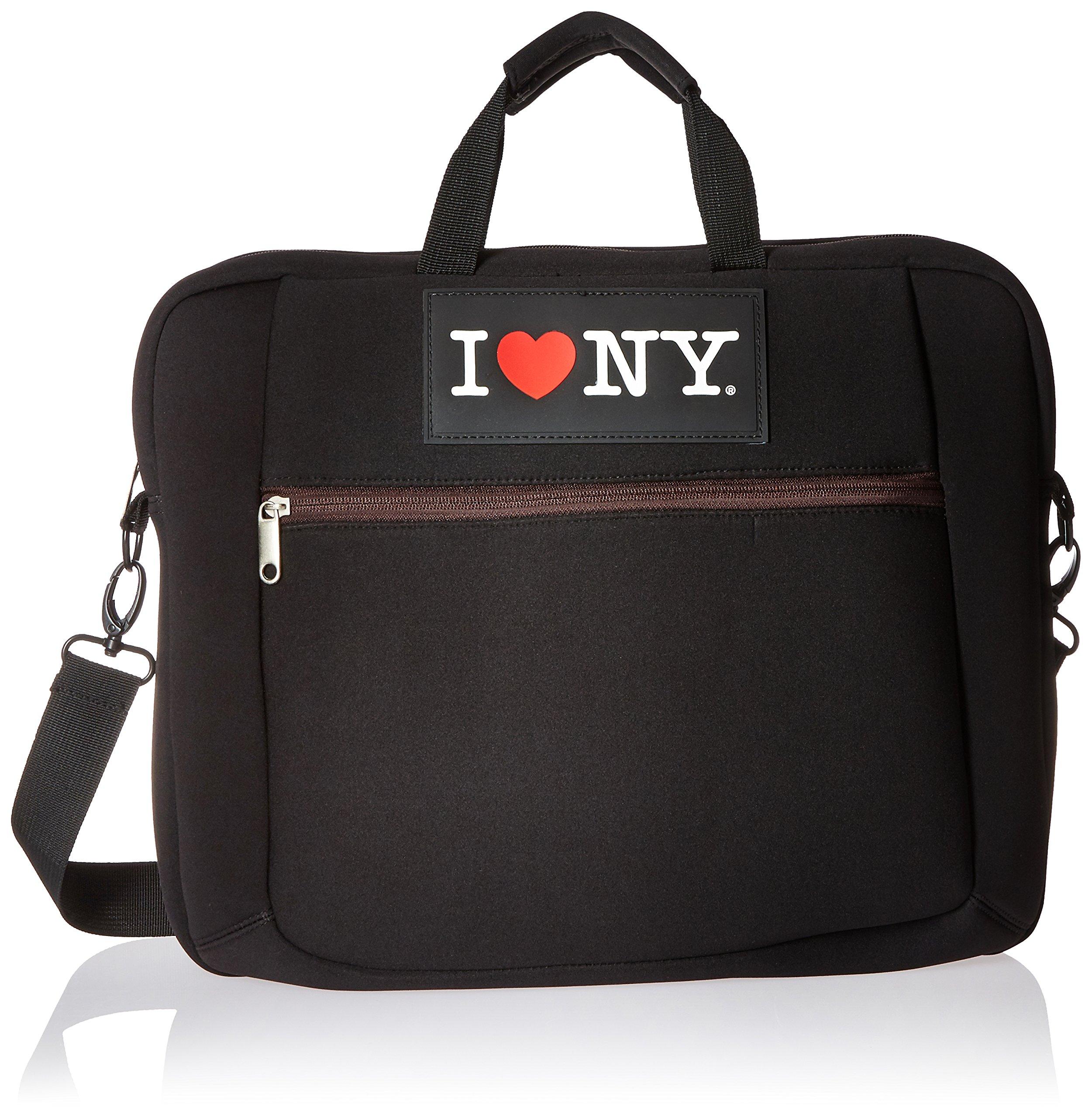 I Love NY Laptop Case, Black/Brown (ILNLAP1602BR)