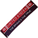 """USA """"The Brave & The True"""" Knit Scarf - Soccer and Other Sports"""
