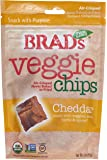 Brad's Plant Based, USDA Organic, Gluten Free, Veggie Chips, Cheddar, 3 Ounce (4 Count) (Packaging may vary)