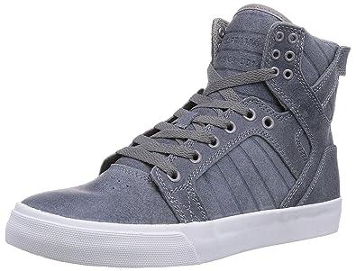 Supra Mens Skate Leather Shoes Skytop Slate Blue  White S18241 Medium D  M 75  B00LU0HUQ6