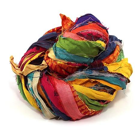 Darn Good Yarn Recycled Handmade Sari Silk Ribbon At the Bahamas Multicolor  Yarn | Silk Ribbon, Knitting Yarn, Crochet Yarn | Jewelry Making, Gift