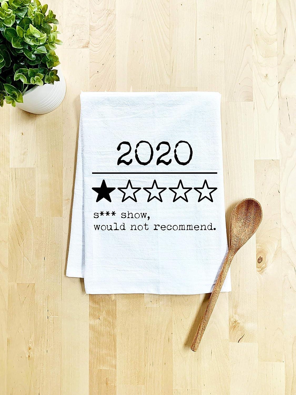 2020 Review - Would Not Recommend, Flour Sack Kitchen Towel, Sweet Housewarming Gift, Farmhouse Kitchen Decor, White
