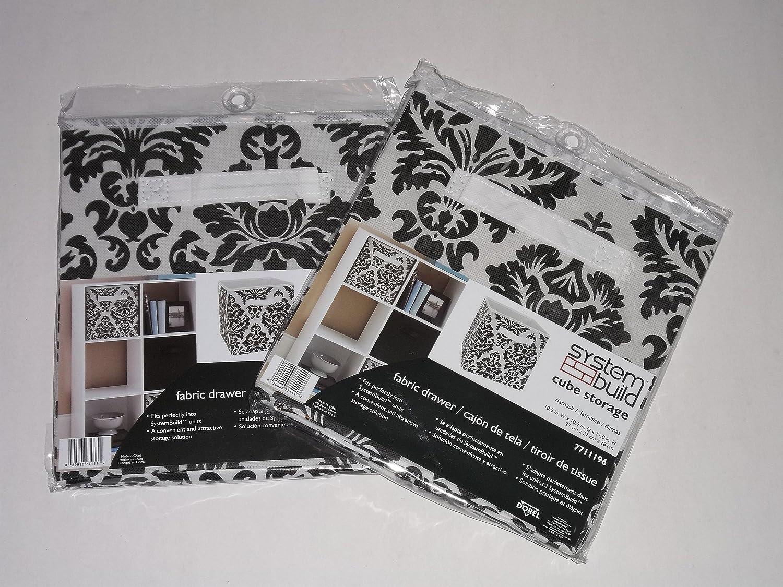 Charming Amazon.com: System Build Cube Storage Fabric Drawer Damask Pattern 2 Pack:  Home U0026 Kitchen
