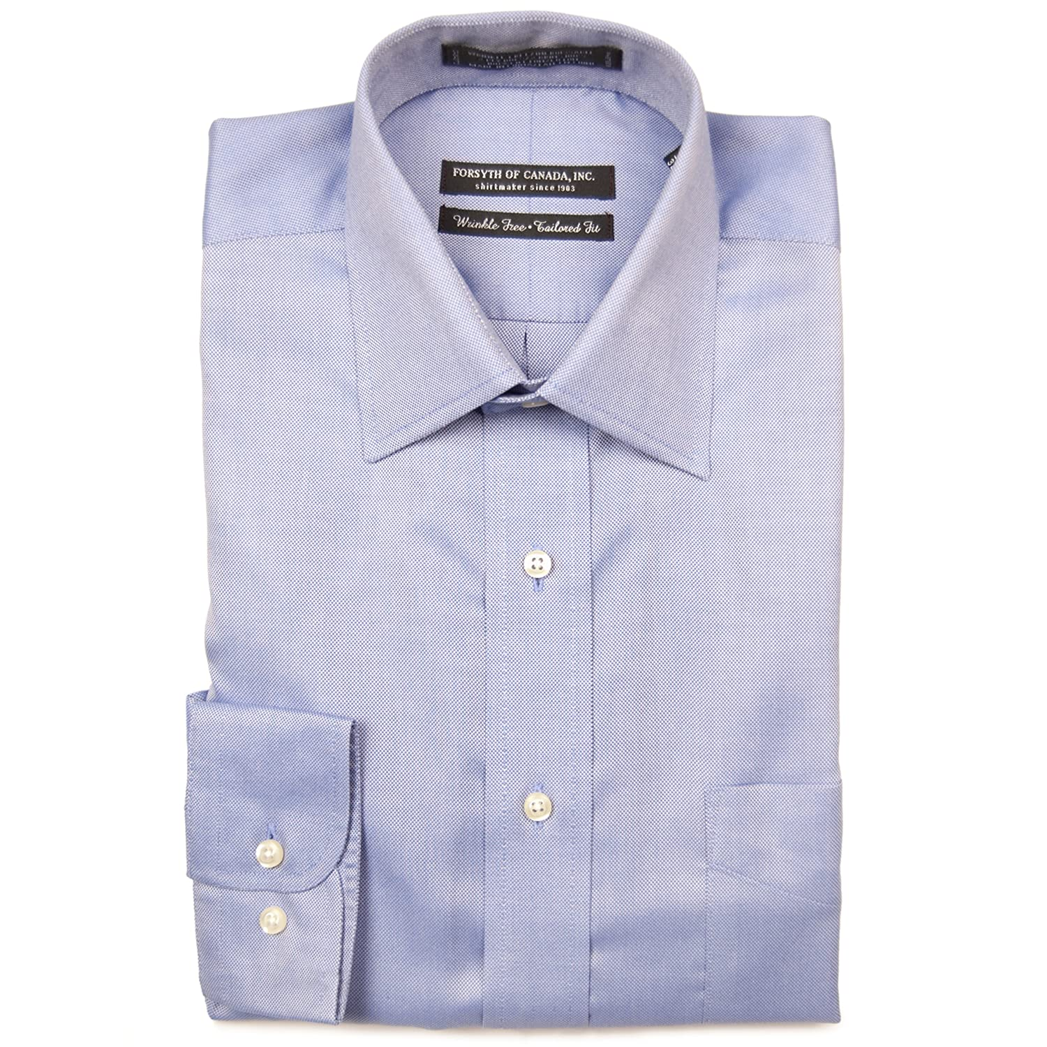 Forsyth Tailored Fit Spread Collar Dress Shirt At Amazon Mens