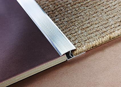 Tile rite thrs470 soglia moquette a mattonelle strip argento