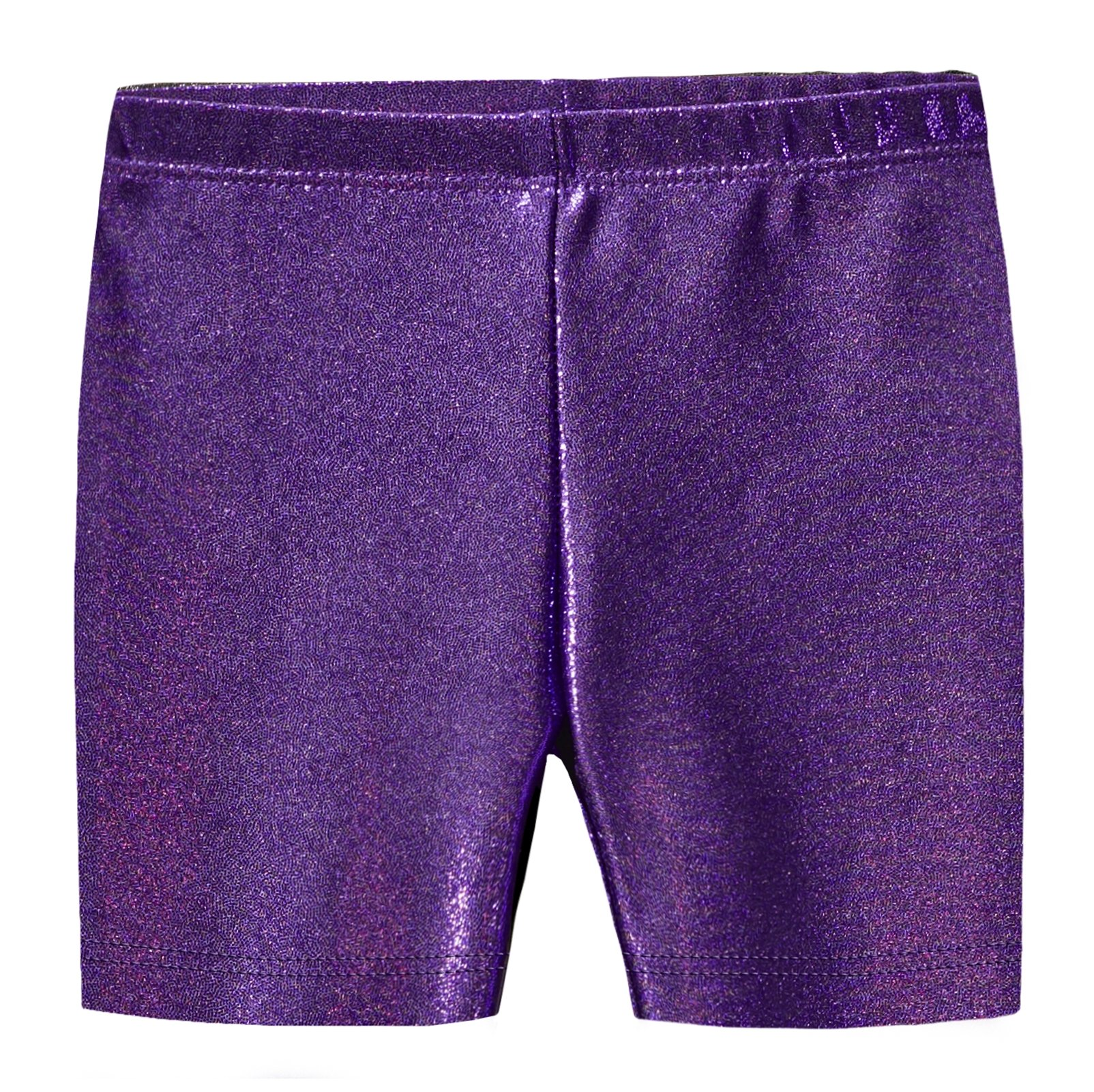 City Threads Girls Underwear Novelty Bike Shorts for Play School Uniform Dance Class and Under Dresses, Sparkly Purple, 4T by City Threads (Image #1)