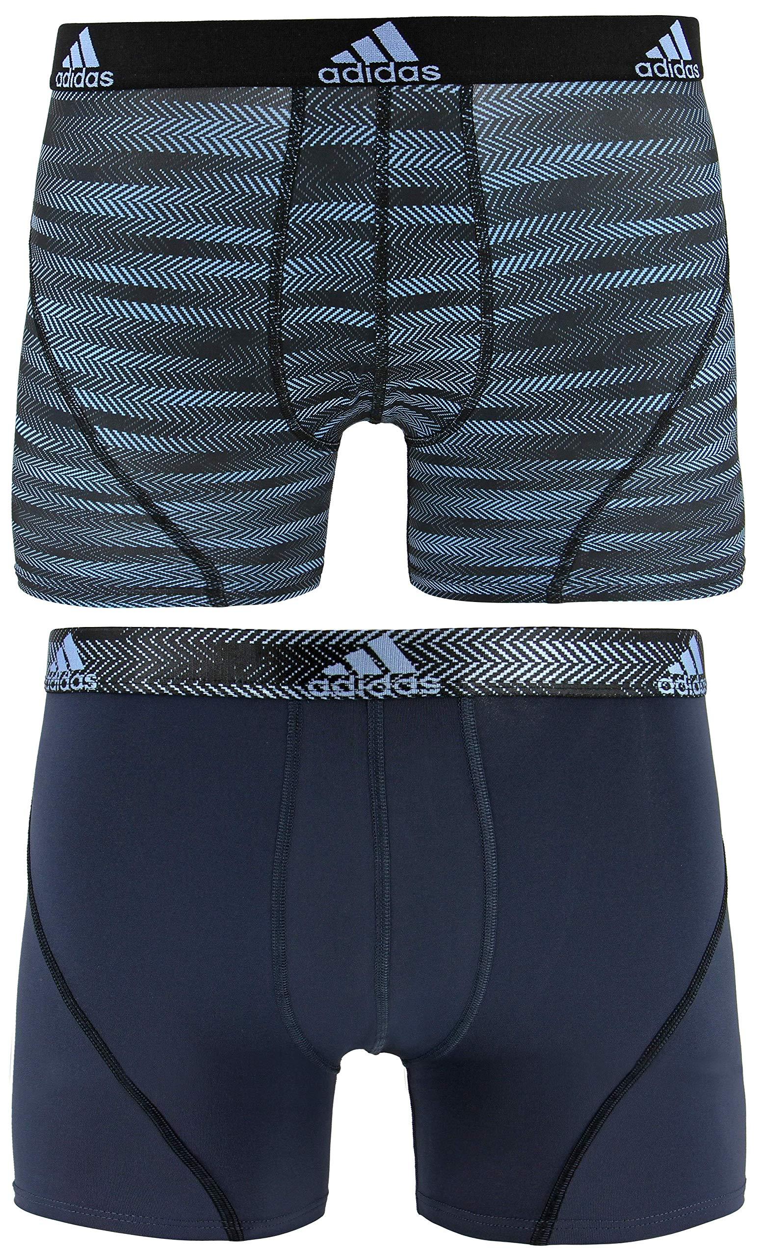 adidas Men's Sport Performance Trunk Underwear (2-Pack), Collegiate Light Blue Ratio Urban Sky Ratio, LARGE by adidas
