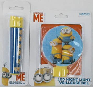 Bedroom Accessories Camping Despicable Me Minions Projection Torch Flashlight