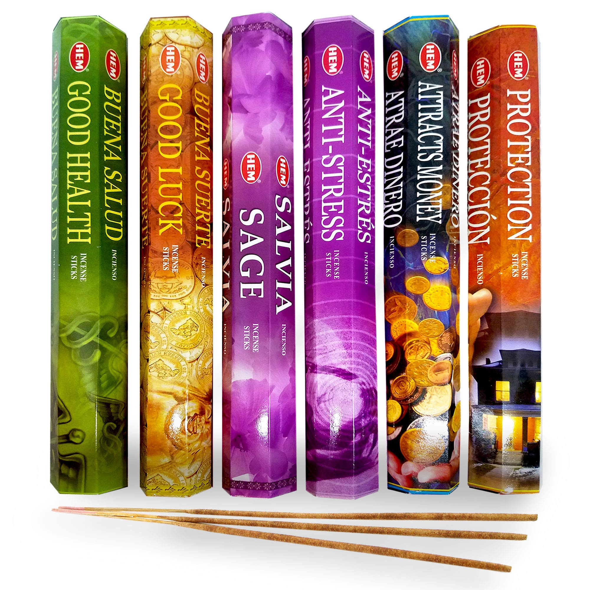 AurAmbiance New Age Feng Shui Incense Stick Spiritual Gifts Set; Inscents Sticks for Natural Healing & Protection