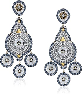 product image for Miguel Ases Opalite 3-Drop Chandelier Earrings