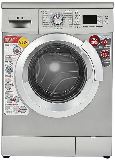 IFB 6.5 kg Fully Automatic Front Loading Washing Machine  Senorita Aqua SX , Silver  Washing Machines   Dryers