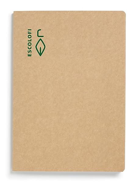 Escolofi 130025500 - Libreta de papel reciclado ecológico, A6