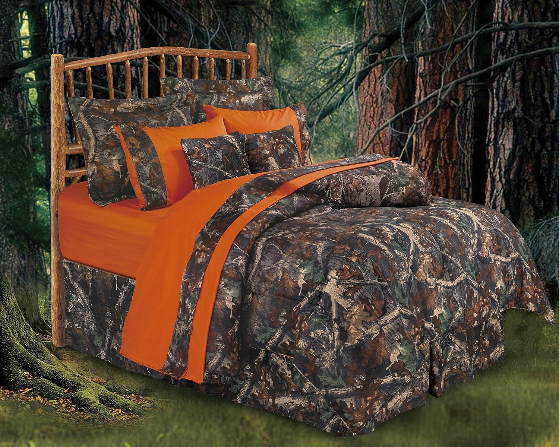 HiEnd Accents Realtree Oak Camo Comforter Set, Queen - CM1001Q