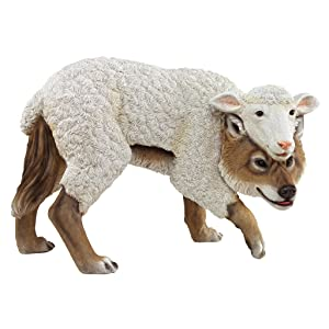 Design Toscano Wolf in Sheep's Clothing Garden Statue