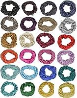 BELLI® Crinkel Schal Halstuch Sommerschal Frühjahrschal einfarbig unisex 100% Viskose - Große Farbauswahl - 180x50cm