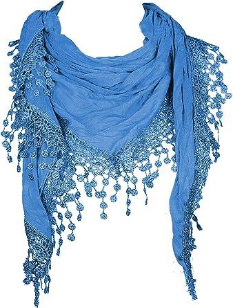 Pañuelo triangular para el cuello de mujer Mevina, de algodón y ...