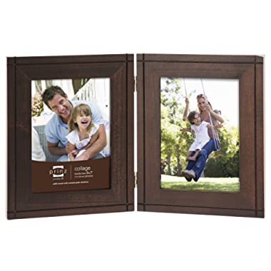 PRINZ 2-Opening Dryden Hinged Wood Frame, 5 by 7-Inch, Espresso