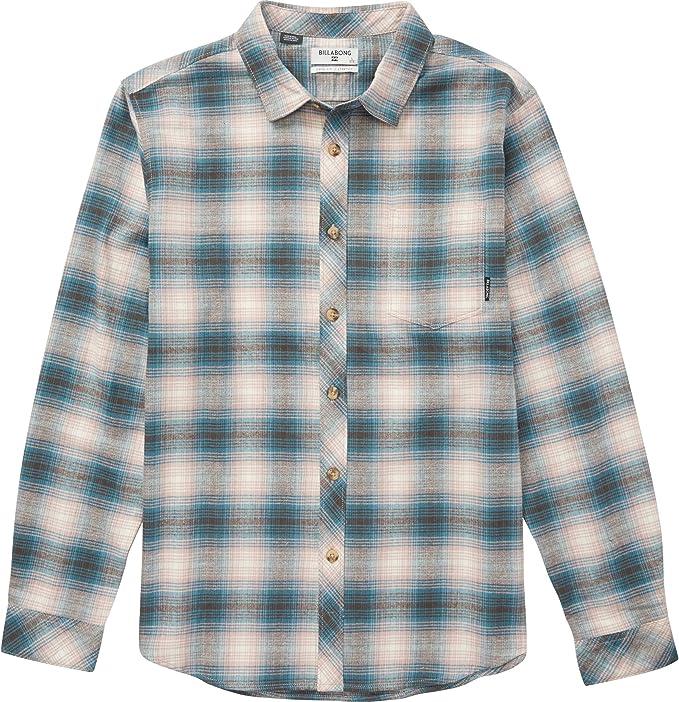 BILLABONG Herren Coastline Flannel Button Down Hemd, Pink