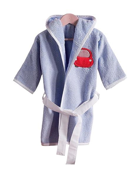 Niños Albornoz, bata Rizo con capucha para niña y niño, diferentes tamaños y colores